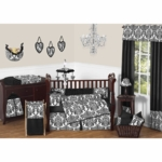 Sweet JoJo Designs Isabella Black & White 9 Piece Crib Bedding Set