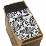 Sweet JoJo Designs Isabella Black & White Changing Pad Cover