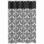 Sweet JoJo Designs Isabella Black & White Shower Curtain