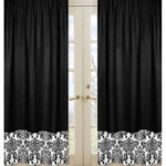 Sweet JoJo Designs Isabella Black & White Window Panels - Set of 2