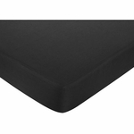 Sweet JoJo Designs Isabella Hot Pink, Black & White Fitted Sheet - Solid Black