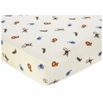 Sweet JoJo Designs Jungle Time Crib Sheet in Animal Print