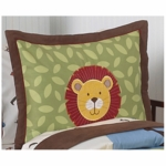 Sweet JoJo Designs Jungle Time Pillow Sham
