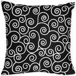 Sweet JoJo Designs Kaylee Scroll Print Decortative Throw Pillow