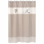 Sweet JoJo Designs Lamb Shower Curtain
