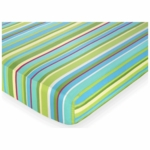 Sweet JoJo Designs Layla Crib Sheet in Stripe Print