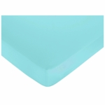 Sweet JoJo Designs Layla Crib Sheet in Turquoise