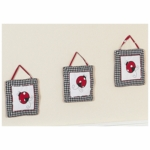 Sweet JoJo Designs Little Ladybug Wall Hangings