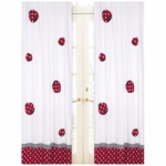 Sweet JoJo Designs Little Ladybug Window Panels