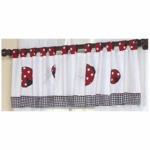 Sweet JoJo Designs Little Ladybug Window Valance