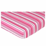 Sweet JoJo Designs Madison Crib Sheet in Stripe Print