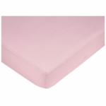 Sweet JoJo Designs Mod Dots Pink Crib Sheet in Mini Dot Print