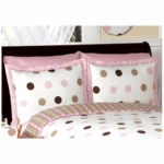 Sweet JoJo Designs Mod Dots Pink Pillow Sham