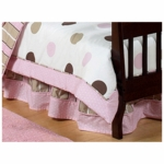 Sweet JoJo Designs Mod Dots Pink Toddler Bed Skirt
