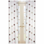 Sweet JoJo Designs Mod Dots Pink Window Panels