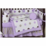 Sweet JoJo Designs Mod Dots Purple 9 Piece Crib Bedding Set