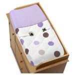 Sweet JoJo Designs Mod Dots Purple Changing Pad Cover