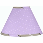 Sweet JoJo Designs Mod Dots Purple Lamp Shade