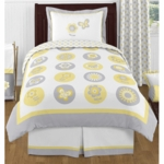 Sweet JoJo Designs Mod Garden Twin Bedding Set