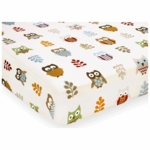 Sweet JoJo Designs Owl Crib Sheet in Owl Print