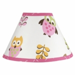 Sweet JoJo Designs Owl Pink Lamp Shade