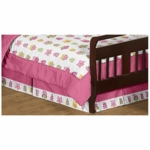 Sweet JoJo Designs Owl Pink Toddler Bed Skirt