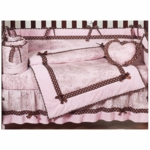Sweet JoJo Designs Pink & Brown Toile 9 Piece Crib Bedding Set