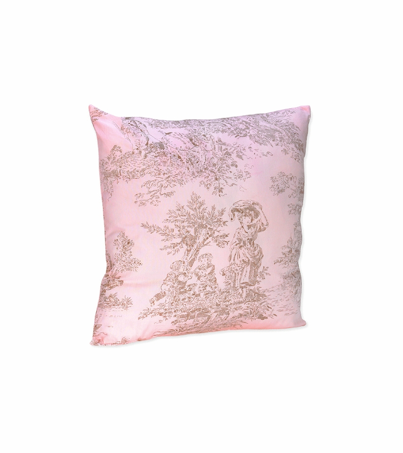 sweet jojo designs pink brown toile decorative throw pillow. Black Bedroom Furniture Sets. Home Design Ideas