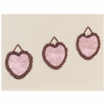 Sweet JoJo Designs Pink & Brown Toile Wall Hangings