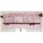 Sweet JoJo Designs Pink & Brown Toile Window Valance