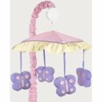 Sweet JoJo Designs Pink & Purple Butterfly Musical Mobile
