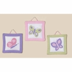 Sweet JoJo Designs Pink & Purple Butterfly Wall Hangings