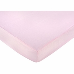Sweet JoJo Designs Pink Toile Crib Sheet in Gingham Print