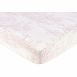 Sweet JoJo Designs Pink Toile Crib Sheet in Toile Print