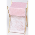 Sweet JoJo Designs Pink Toile Hamper