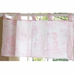 Sweet JoJo Designs Pink Toile Window Valance