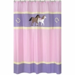Sweet JoJo Designs Pony Shower Curtain