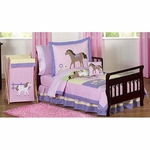 Sweet JoJo Designs Pony Toddler Bedding Set