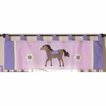 Sweet JoJo Designs Pony Window Valance