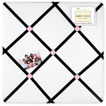Sweet JoJo Designs Princess Black, White & Pink Fabric Memo Board