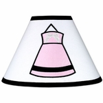 Sweet JoJo Designs Princess Black, White & Pink Lamp Shade