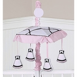 Sweet JoJo Designs Princess Black, White & Pink Musical Mobile
