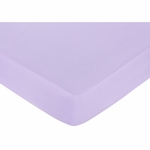 Sweet JoJo Designs Princess Black, White & Purple Crib Sheet - Purple