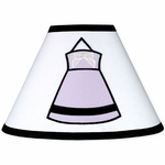Sweet JoJo Designs Princess Black, White & Purple Lamp Shade