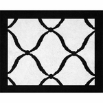 Sweet JoJo Designs Princess Black, White & Purple Rug