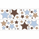 Sweet JoJo Designs Soho Blue & Brown Wall Decals