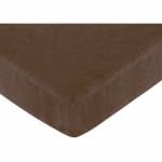 Sweet JoJo Designs Soho Pink & Brown Crib Sheet in Chocolate Microsuede