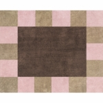 Sweet JoJo Designs Soho Pink & Brown Rug