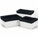 Sweet JoJo Designs Spirodot Lime & Black Basket Liners - Set of 3