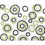 Sweet JoJo Designs Spirodot Lime & Black Rug